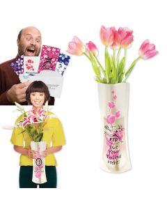Pink Floral Flower Power Vase
