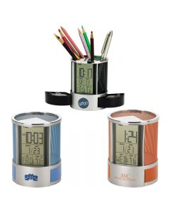 Desk Organizer w/ Multi Function Clock