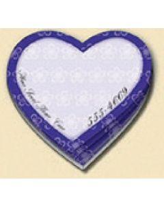 25 Sheet Die Cut Stik-ON Adhesive Note Pad (Heart)