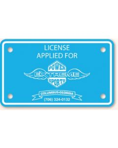 "Poly Coated Card Stock Motorcycle License Plate ( 4 3/16""x7 1/16"")"