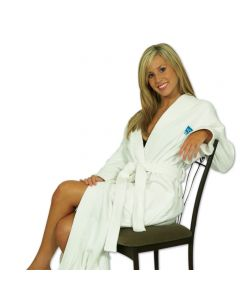 "Terry Velour 14 oz. Kimono Style Robe - Embroidered (48"")"