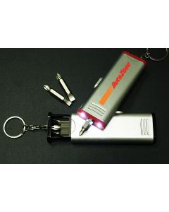 Screwdriver Tool Set with Flashlight and Split Key Ring