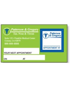 Appointment Card w/ Removable Label-Square
