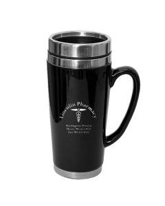 16 Oz. Black Summit Travel Mug (Printed)