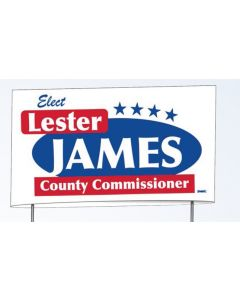"Double Sided 18 Point Poster Board Yard Sign (8""x26"") No Frames"