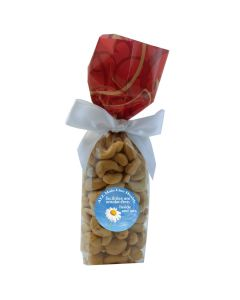 Red Swirl Mug Stuffer Gift Bag with Cashews