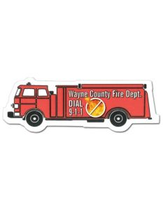 Fire Truck Stock Shape Magnet (Full Color Digital)