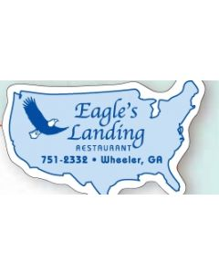"North Carolina 0.03"" Thick Vinyl Die Cut Magnet"
