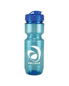 22 Oz Translucent Bike Bottle w/ Flip Top Lid