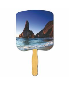 Religious Hand Fan/ Shoreline at Daytime