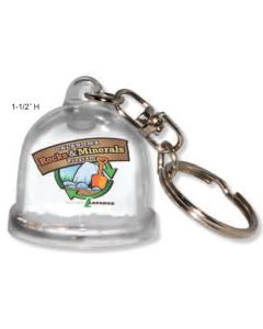 Full Color Snow Globe Key Ring
