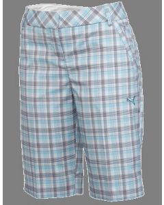 Puma Ladies Golf Plaid Tech Short