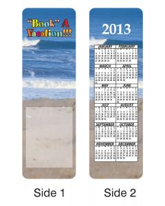 Travel Stock Full Color Digital Printed Bookmark w/ Calendar