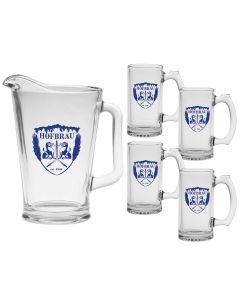 Glass Pitcher & Mug Set