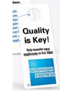 "Vinyl Plastic 0.015"" Thick Door Hanger with Side Slit"