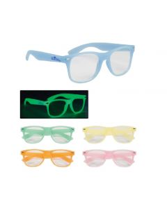 Glow In The Dark Glasses w/ Clear Lenses