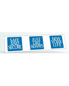 "Rectangle Vinyl Bumper Sticker Magnet (3""x11 1/2"")"