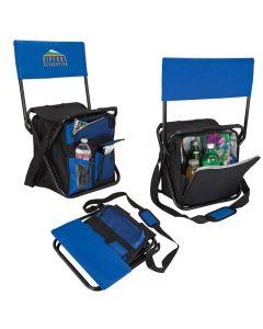 24 Can Folding Cooler Chair w/ Backrest