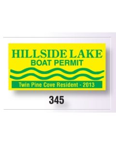 """Square-Cut Parking Permit-Clear Polyester, Face Adhesive (3""""x2"""")"""