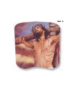 Stock Crucifixion Spiritual Hand Fan
