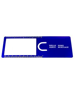 "Magnifier Bookmark w/ 4"" Ruler (7 1/2""x2 1/2"")"
