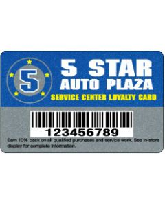 """Deluxe Loyalty Cards - .030"""" Deluxe Silver"""