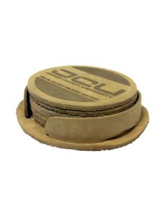 """Leather Coasters in Sets of 6 - (3 7/8"""" Diameter)"""