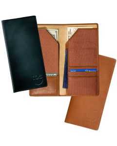 Liberty Sueded Full-Grain Leather Traveler Wallet