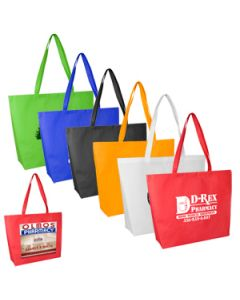 80 GSM Carolina Large Gusseted Tote with Velcro Closure (Overseas)