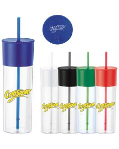 Color Band 22 Oz. Tumbler w/ Straw
