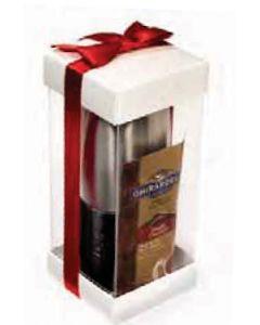 16 Oz. Leather-Wrapped Tumbler w/ Ghiradelli Hot Cocoa Set