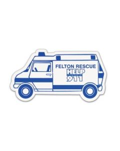 Ambulance Stock Shape Vinyl Magnet (Spot Color)