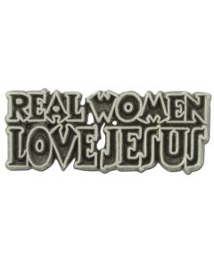 Real Women Love Jesus Lapel Pin