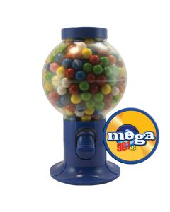 Blue Gumball Machine Filled with Gum