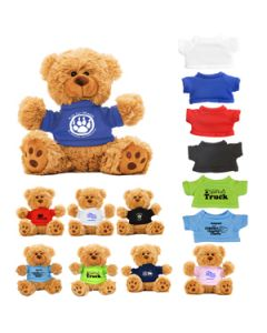 "6"" Plush Teddy Bear w/ T-Shirt"