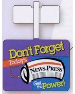 Rectangle Store Shelf Wobbler Sign with Adhesive Tab