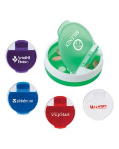 4 Compartment Pill Holder w/ Rotating Cover
