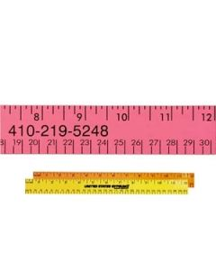 "12"" Fluorescent Wood Ruler"