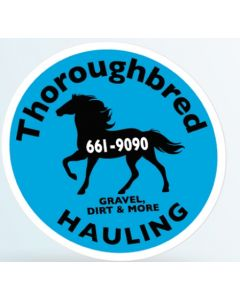 "Round Truck Signs & Equipment Decal (12"" Diameter)"