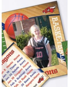 Sports Basketball Small Photoframeables Photo Frame Decal